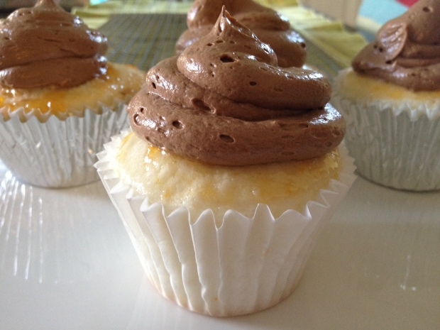 Angel Food Cupcake With Chocolate Orange buttercream