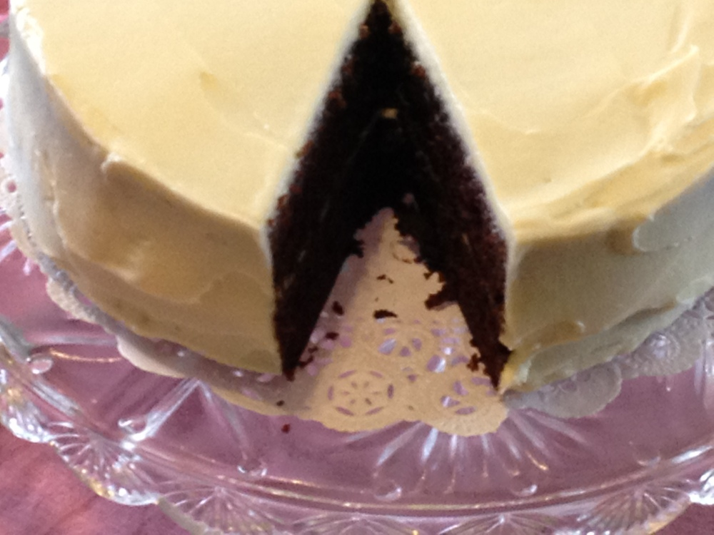 Featured Recipe: Chocolate Stout Cake With Cream Cheese/Mascarpone Frosting (2/3)