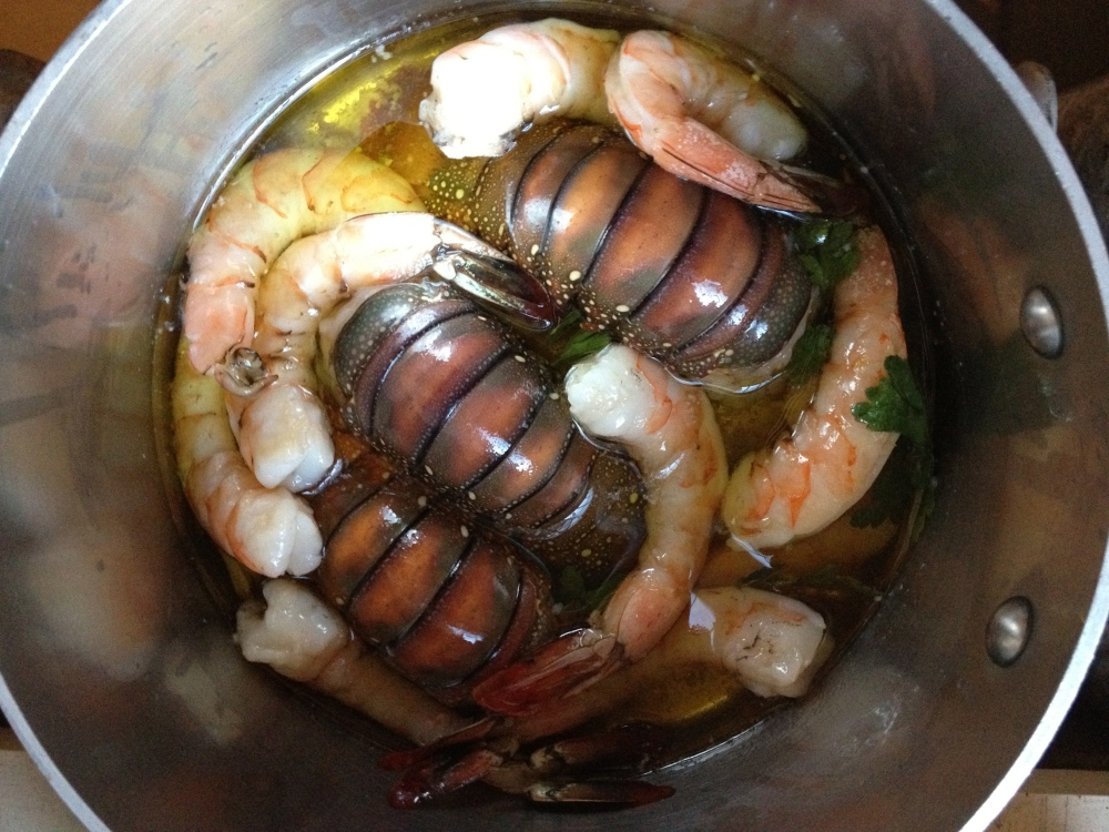 Featured Recipes: Olive Oil Poached Fish/Shellfish and Lobster Diavolo (1/3)