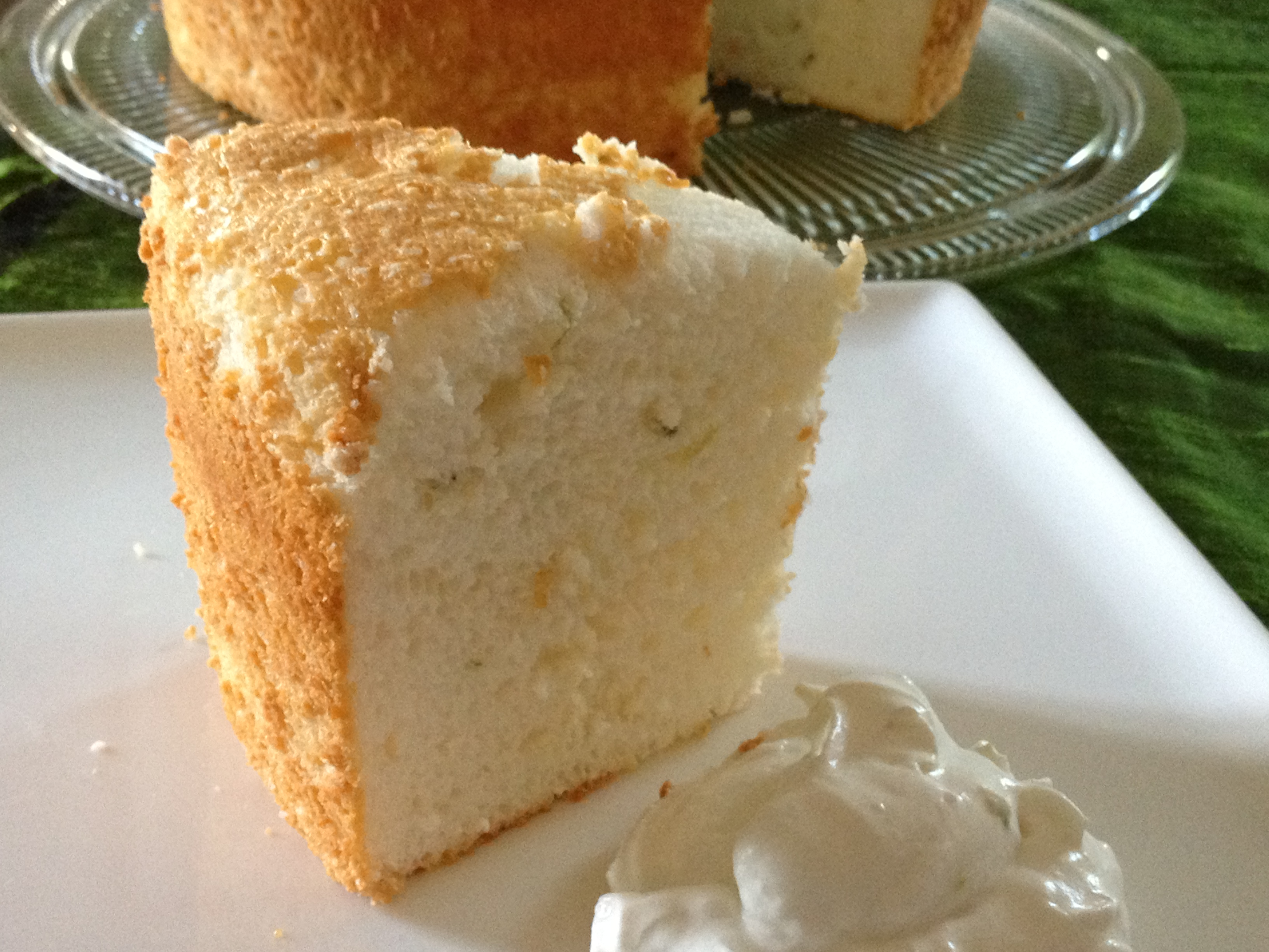Bake Together- Thai Inspired Angel Food Cake With Coconut Lime Whipped ...
