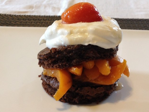 Chocolate Shortcake With Apricots