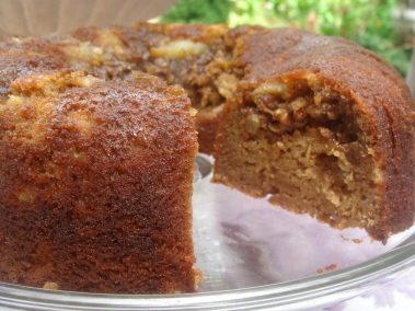 Apple Cider Applesauce Coffee Cake