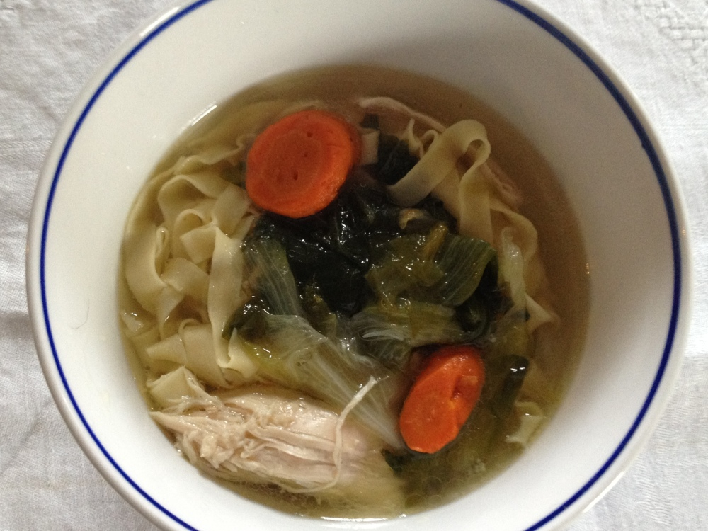 Homemade Chicken Noodle Soup for Comfort Food Thursday #FBS4Sandy
