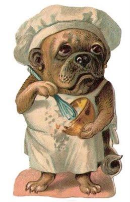 A pug in the kitchen via pinterest