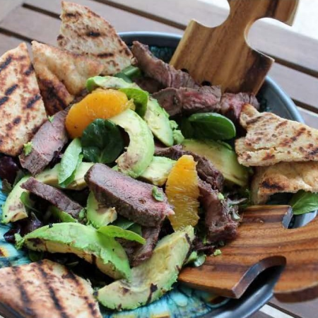 Cali Avocado Steak Salad