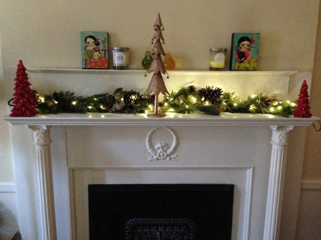 Decorated Fireplace Mantle