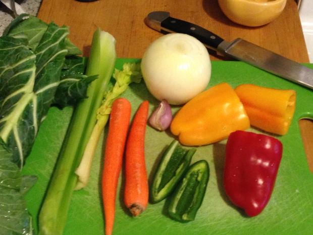 The veggies