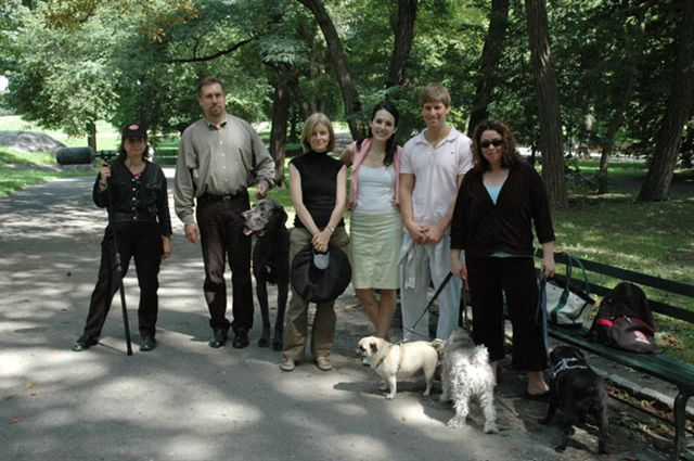 On the set in Central Park