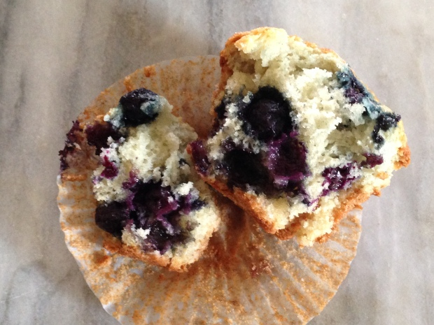 Moist and loaded with blueberries