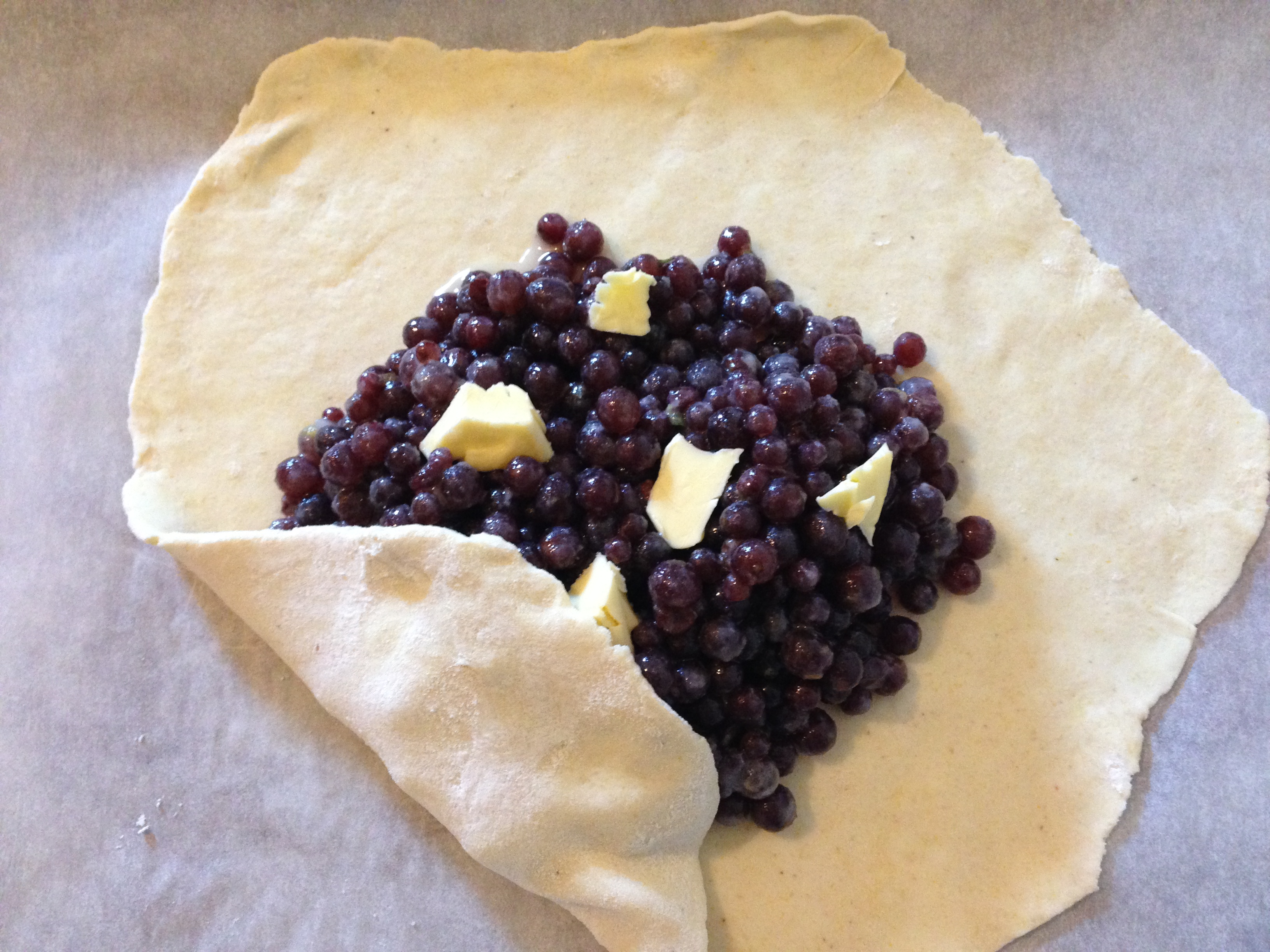 Champagne Grape Galette With Whipped Goat Cheese For Fiesta Friday #27 ...