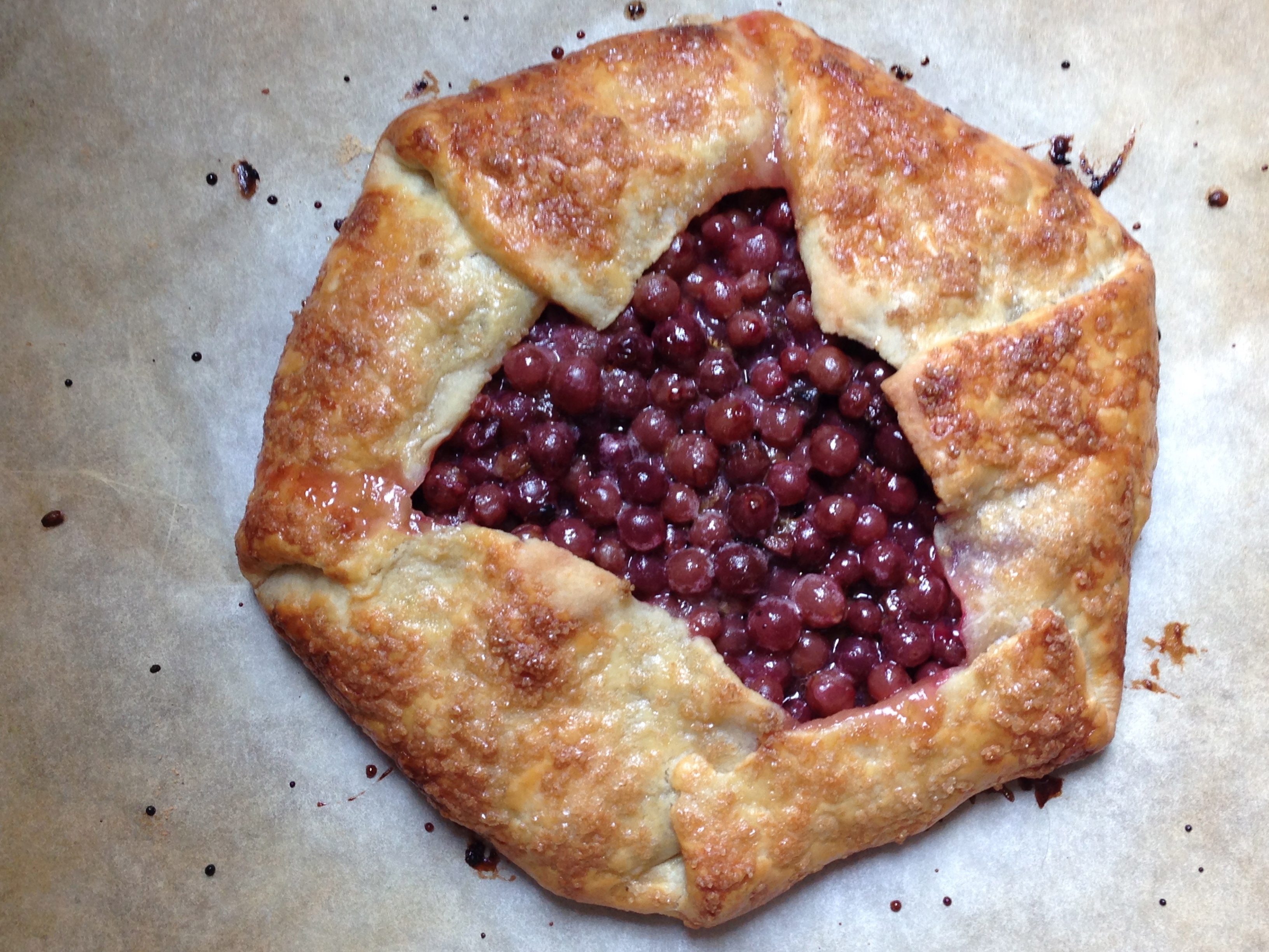 pie a rustic galette filled with grape galette grape galettes recipe ...