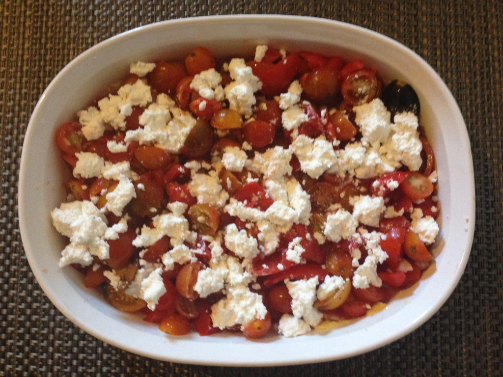 Tomato and farmers cheese