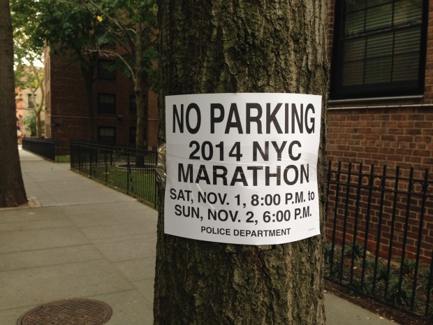 NYC marathon is Sunday