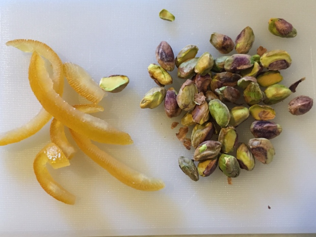 orange and pistachios added