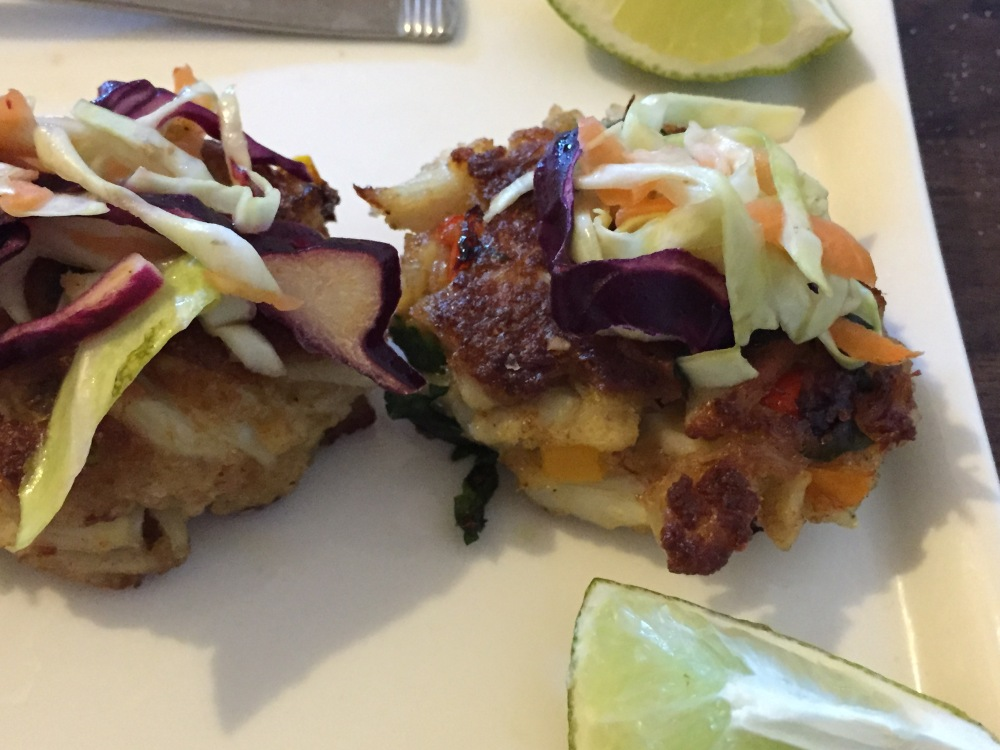Crab Cake And Slaw Appetizer For Fiesta Friday #52 (3/4)