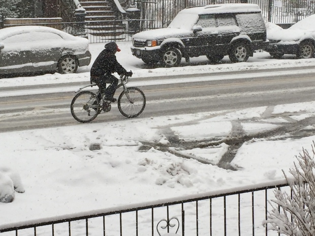 another bicyclist