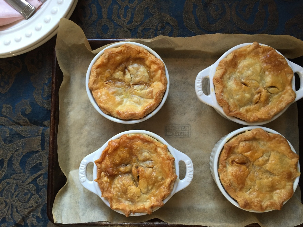 pot pies just out of the oven