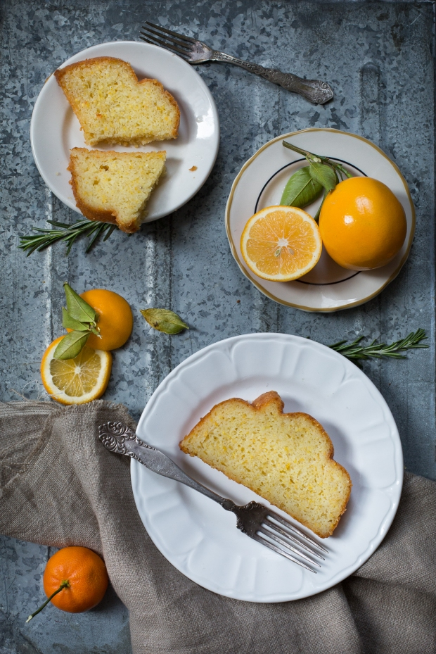 meyer lemon cornmeal and rosemary cake-3-4