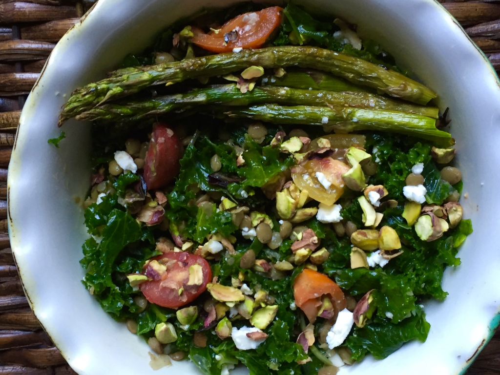 lentil and kale salad
